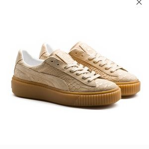 Puma platform exotskin sneakers